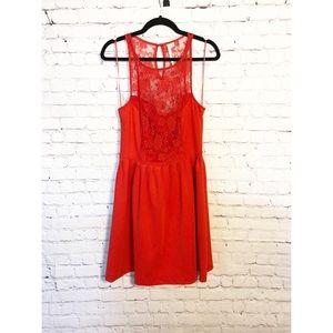 Lauren Conrad Red Top Lace Dress